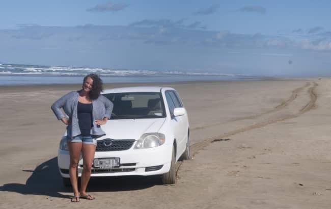 На машине в турции