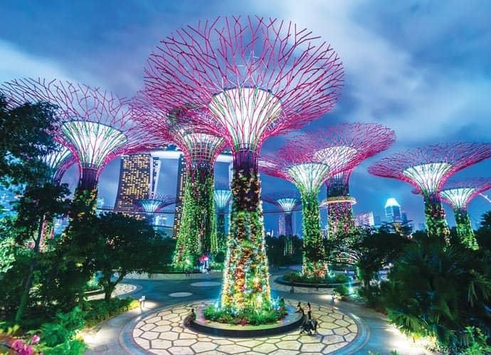 Сады у залива Сингапура